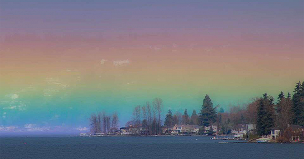 Incredible 'Horizontal Rainbow' Captured In Photo Of Perfect Moment