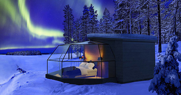Spend The Night In a Glass Igloo Looking Up At The Northern Lights