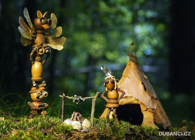 Man Makes Adorable Acorn People And Sends Them On Magical Adventures In The Woods
