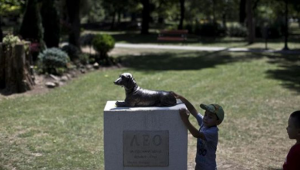 Dog Who Died Protecting A Little Girl Now Watches Over All Kids In The Park