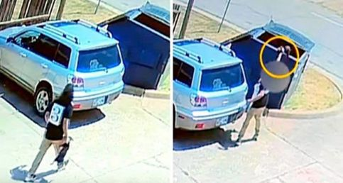 Cameras Caught Woman Swinging Tiny Puppy By The Neck, Throwing Him In The Dumpster And Running Off